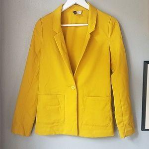 Divided size 2 mustard yellow blazer